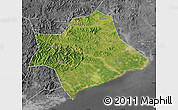 Satellite Map of Suizhong, desaturated
