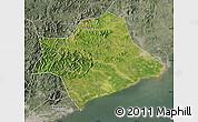 Satellite Map of Suizhong, semi-desaturated