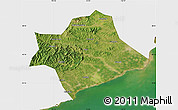 Satellite Map of Suizhong, single color outside