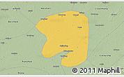 Savanna Style 3D Map of Taian