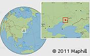 Savanna Style Location Map of Taian