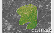Satellite Map of Taian, desaturated