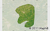 Satellite Map of Taian, lighten
