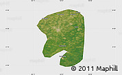 Satellite Map of Taian, single color outside