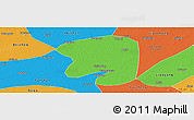 Political Panoramic Map of Taian