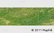 Satellite Panoramic Map of Taian