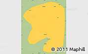 Savanna Style Simple Map of Taian