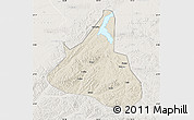 Shaded Relief Map of Xifeng, lighten