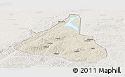 Shaded Relief Panoramic Map of Xifeng, lighten