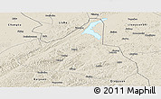 Shaded Relief Panoramic Map of Xifeng