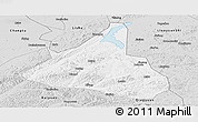 Silver Style Panoramic Map of Xifeng