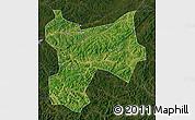 Satellite Map of Xinbin, darken