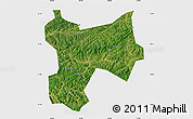 Satellite Map of Xinbin, single color outside