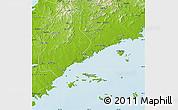 Physical Map of Xinjin