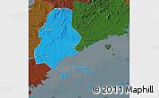 Political Map of Xinjin, darken