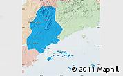 Political Map of Xinjin, lighten