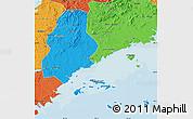 Political Map of Xinjin