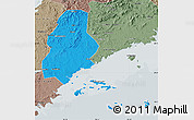 Political Map of Xinjin, semi-desaturated