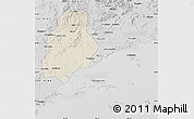 Shaded Relief Map of Xinjin, desaturated