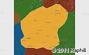 Political Map of Xinmin, darken