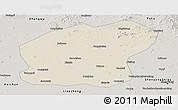 Shaded Relief Panoramic Map of Xinmin, semi-desaturated
