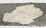 Shaded Relief Panoramic Map of Xiuyan, darken