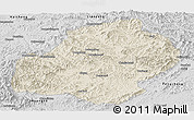 Shaded Relief Panoramic Map of Xiuyan, desaturated