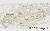 Shaded Relief Panoramic Map of Xiuyan, lighten