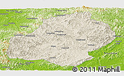 Shaded Relief Panoramic Map of Xiuyan, physical outside