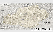 Shaded Relief Panoramic Map of Xiuyan, semi-desaturated