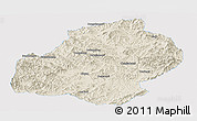 Shaded Relief Panoramic Map of Xiuyan, single color outside