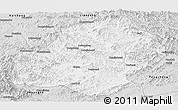 Silver Style Panoramic Map of Xiuyan