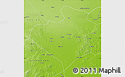 Physical Map of Zhangwu