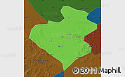 Political Map of Zhangwu, darken