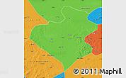 Political Map of Zhangwu