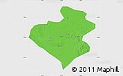 Political Map of Zhangwu, single color outside