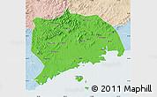 Political Map of Zhuanghe, lighten