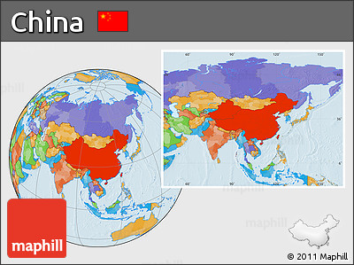 Free Political Location Map Of China - Location of china