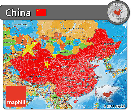 Free flag map of china political outside flag centered flag map of china political outside flag centered gumiabroncs Image collections
