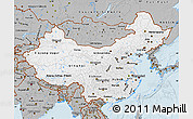 Gray Map of China