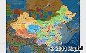 Political Map of China, darken