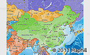Political Shades Map of China