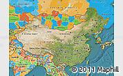 Satellite Map of China, political outside, satellite sea