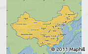 Savanna Style Map of China, single color outside