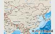Shaded Relief Map of China
