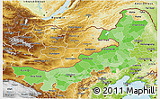 Political Shades 3D Map of Nei Mongol Zizhiqu, physical outside