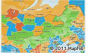 Political Shades 3D Map of Nei Mongol Zizhiqu