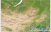 Satellite 3D Map of Nei Mongol Zizhiqu