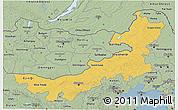 Savanna Style 3D Map of Nei Mongol Zizhiqu