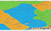 Political Panoramic Map of Abag Qi